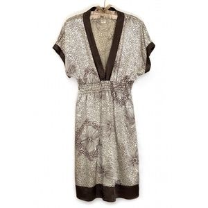 JANE ALEXANDER   Low Neck Short Sleeve Midi Dress